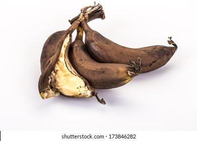 over ripe (rotten) bananas