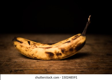 Over ripe spotted banana