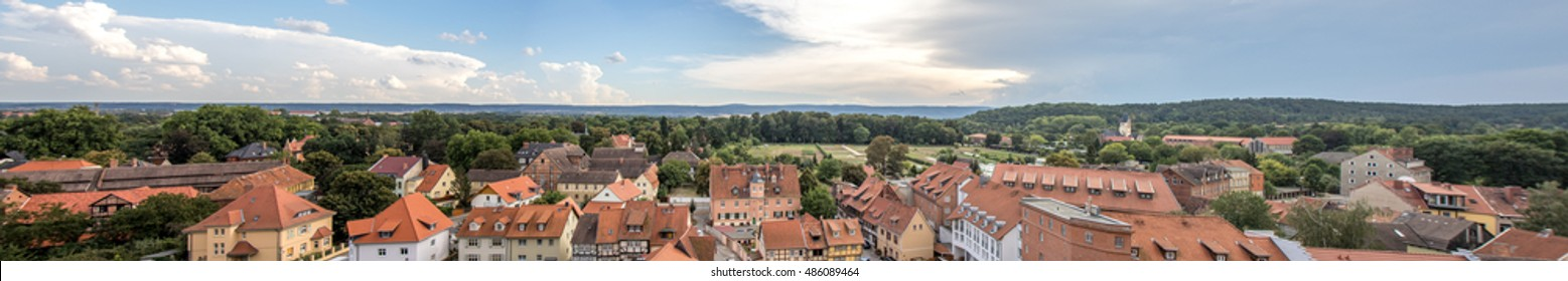 Over the roofs - Qedlingburg Germany, Panorama view