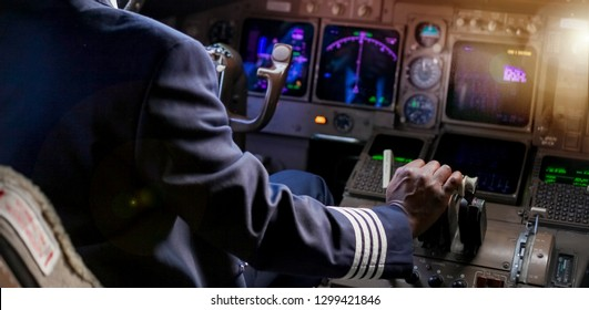 Over the Shoulder of an African Pilot in a Jumbo Cockpit