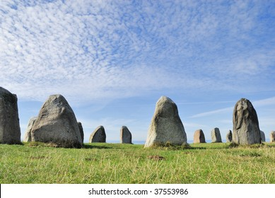 Over the small city Kaaseberga in the Southern part of Sweden stands this Stone Circle Ales Stenar (Ales Stones). Burial ground or worshiping place?