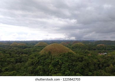 Over view of Beautiful Chocolate Hills of Bohol, Philipines