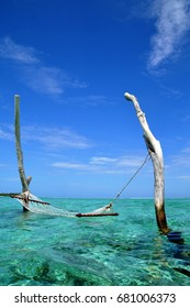 over water hammock in the lagoon