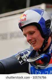Overall winner of the 2007/08 world cup in ski jumping, Thomas Morgenstern from Austria