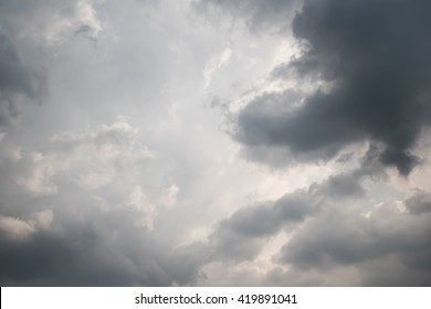Overcast and Dark sky clouds
