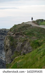 An overcast evening at the Cliffs of Moher