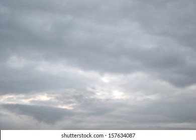 Overcast sky with dark clouds