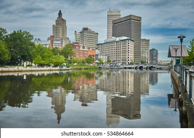Overcast view of Providence City in Rhode Island