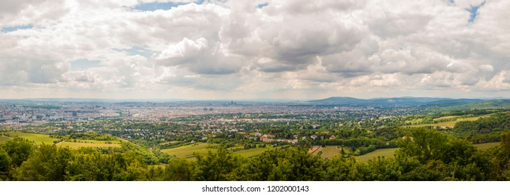 The overcast weather brings terrific contrast view for the visitors and photogaphers. The Kahlenberg lies in the Vienna Woods and is one of the most popular destinations for day-trips from Vienna