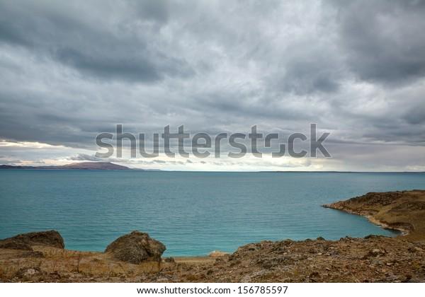 Overcasted Van Lake, Turkey