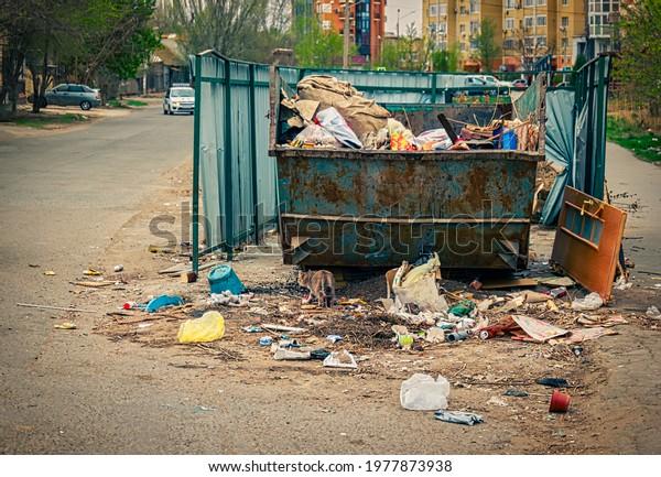overfilled-trash-dumpster-ghetto-neigbor
