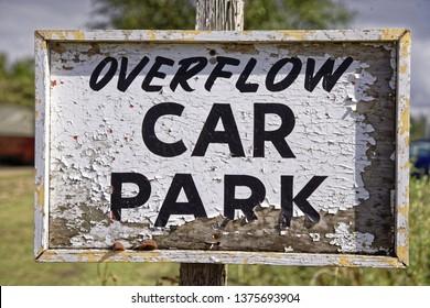 Overflow Car Park Sign