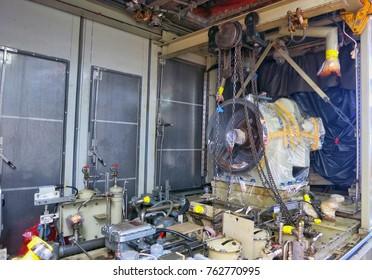 Overhaul power turbine engine for power generator.