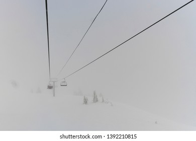 Overhead cable cars , Kamloops, British Columbia, Canada
