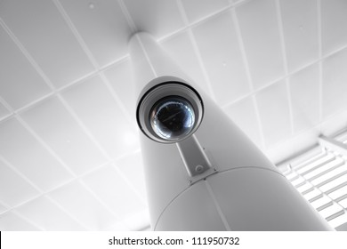 Overhead security camera in a government owned public building.