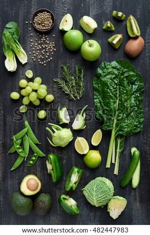 Overhead Series Fresh Organic Raw Green Stock Photo (Edit Now ...