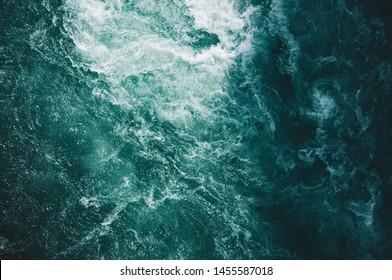 An overhead shot of beautiful textures of water in the ocean - Shutterstock ID 1455587018
