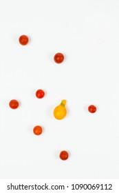 Overhead shot of cherry tomato concept horizontal