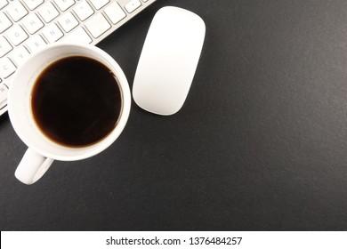 Overhead shot of office desktop - Image
