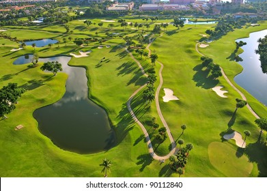 overhead view of florida golf course