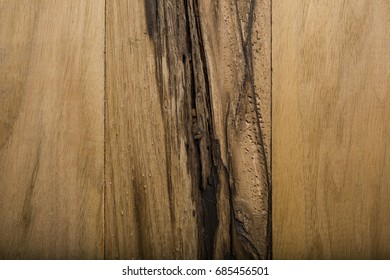 Overhead view of old light brown wood background