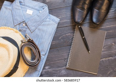 Overhead view of Traveler's accessories,Travel concept background