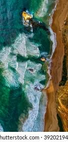 Overhead view of Twelve Apostles - Australia.