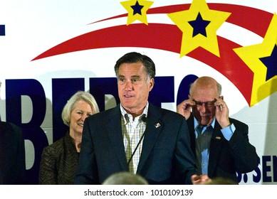 Overland Park Kansas, USA, 27th October, 2014Former Massachusetts Governor Mitt Romney at a campaign rally for Republican Senator Pat Roberts in Overland Park Kansas.