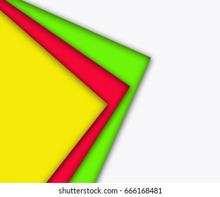 Overlap triangles on white background.Free space for text.Business concept