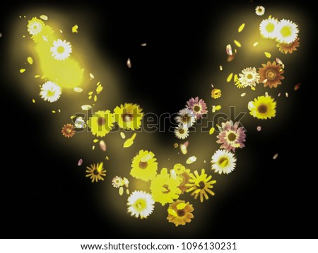 Overlay Background Wallpaper Letter V Love Flowers