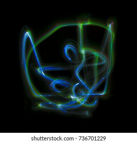 Overlay light, an abstract pattern on a dark background