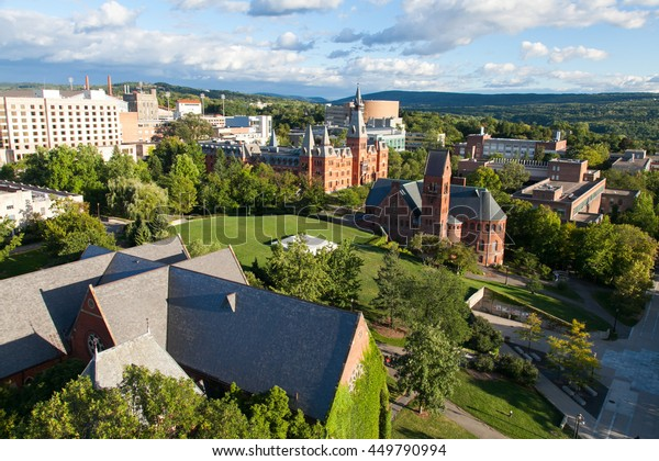 Overlook of Cornell University Campus from Uris Library