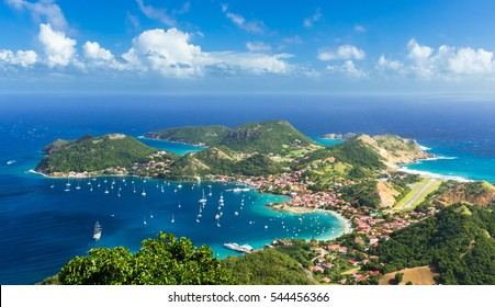 Overlook of Island Town in Guadeloupe