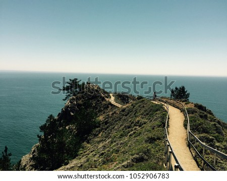 Overlook at the Pacific Ocean
