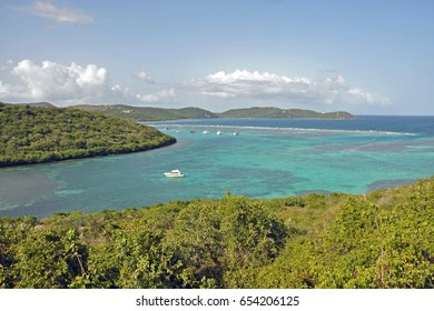 Overlook View of Isla Culebra island, Puerto Rico