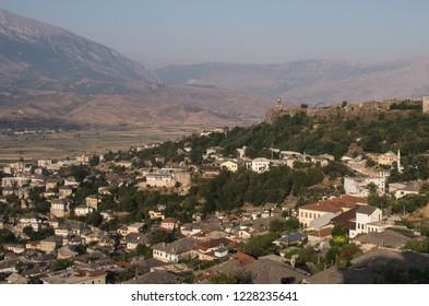 Overlooking Albanian Village of Gjirokaster