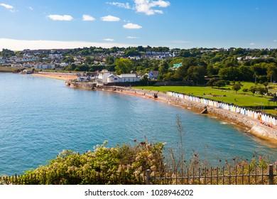 Overlooking the beautiful coastline at Goodrington Sands Devon England UK