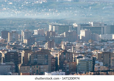 Overlooking the city of Granada, Spain from the Alhambra