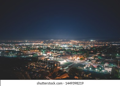 Overlooking a City at Night