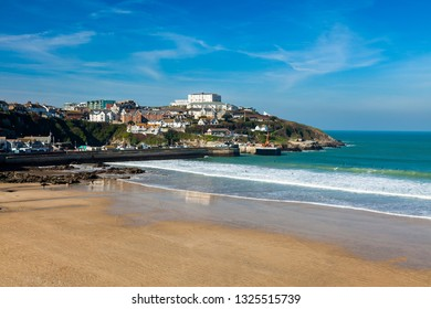 Overlooking the golden sandy Towan Beach Newquay Cornwall England UK Europe