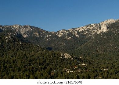 Overlooking Idyllwild, California on a summer afternoon.