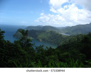 Overlooking Maracas Bay from North Coast Road