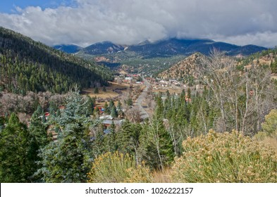 Overlooking the mountain town of Red River, New Mexico