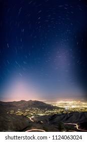 overlooking palm desert star trails