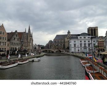 Overlooking River in Ghent, Belgium