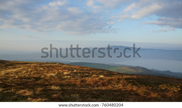 Overlooking the River Shannon from Tountinna in Tipperary