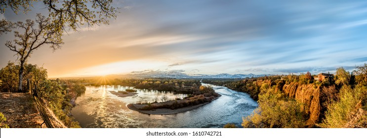 Overlooking Sacramento River after the storm