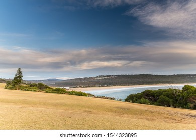Overlooking the Sea from Short Point at Merimbula on the South Coast of NSW, Australia.