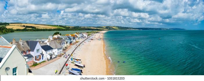 Overlooking the seaside village of Torcross in the South Hams region of Devon England UK Europe