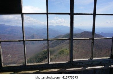 Overlooking the Smoky Mountains.